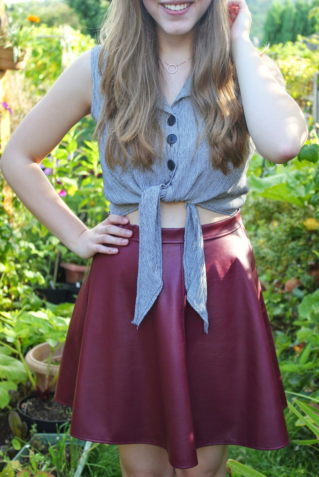 ootd-you're-nobody-but-yourself-shirt-garden-skirt-outfit-fashion-bloggers-clothes-style-inspiration