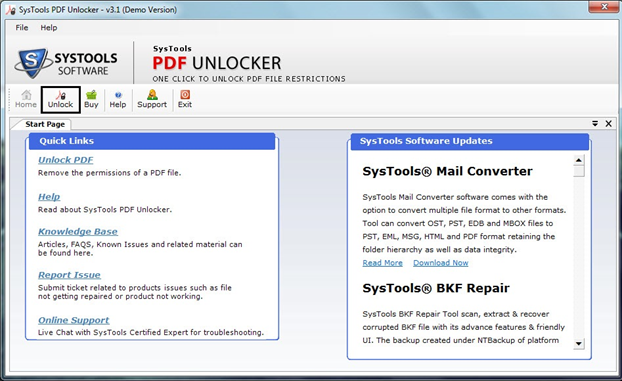 Systools PDF Unlocker- how to operate it