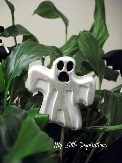 Decorazioni in gesso per Halloween - fantasma - My Little Inspirations