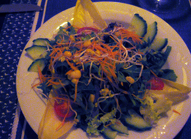 Salad at Restaurant Taverne, Sheraton Hotel & Conference Center, Frankfurt, Germany Flughoff
