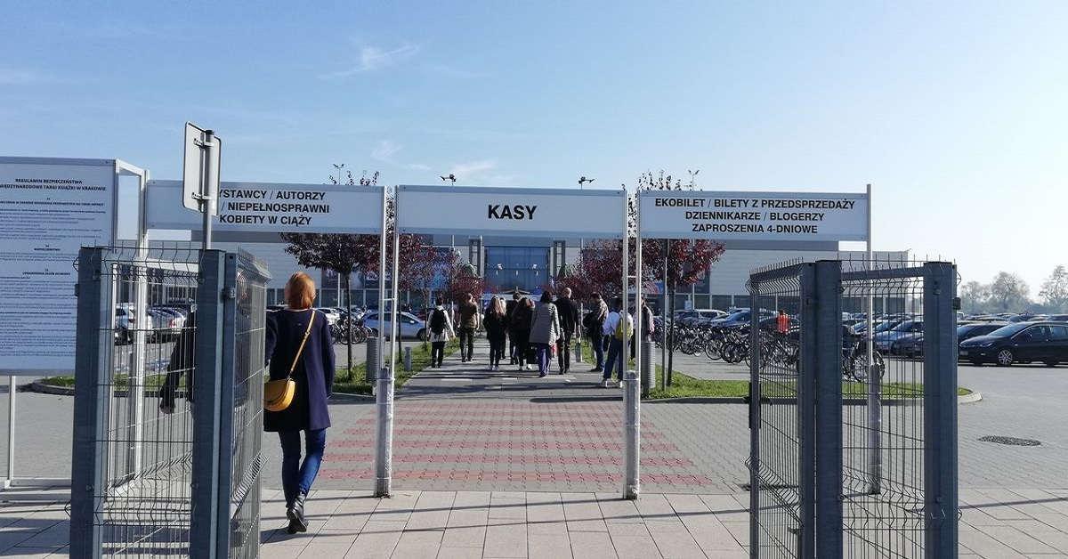 Wejście na Targi Książki w Krakowie 2019
