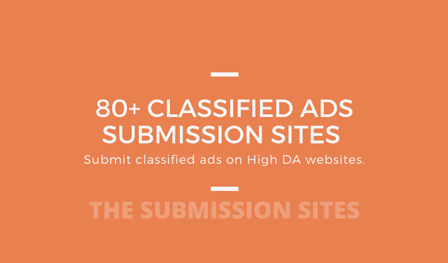 Free Classified Ads Submission Sites