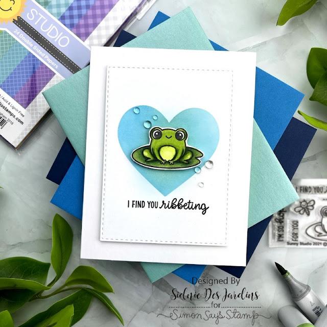 Sunny Studio Stamps: Feeling Froggy Customer Card by Sidnie Des Jardin