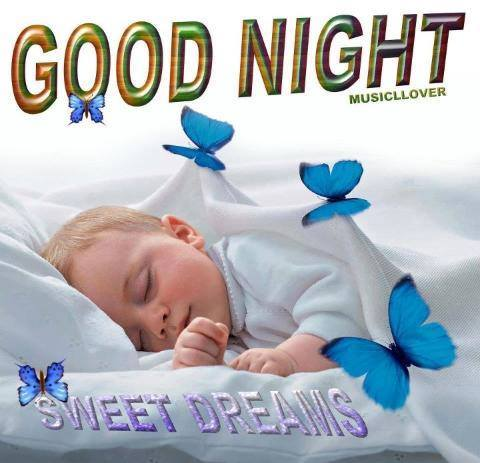 Good Night Baby Pics for Friends
