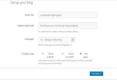 panduan Cara daftar blog wordpress