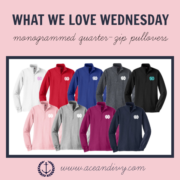 Ace and Ivy Product Spotlight: Monogrammed Quarter-Zip Pullover