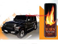 Logo Con Burn vinci il mitico fuoristrada Jeep Wrangler Sahara ( valore circa 50.000 euro)