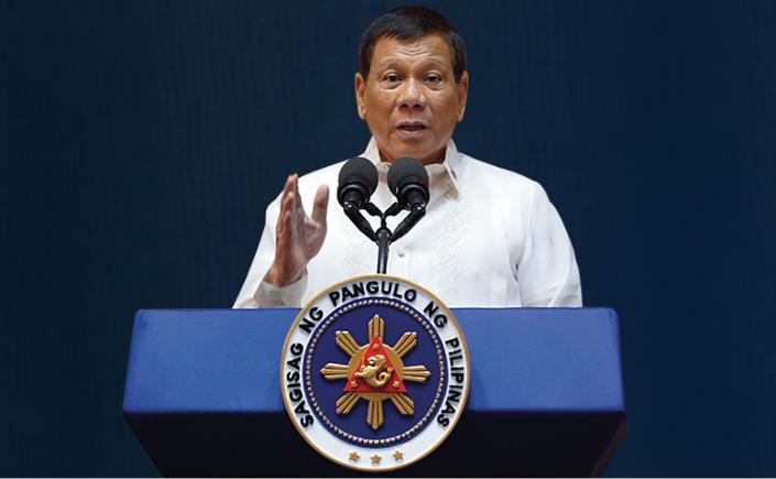 President Rodrigo Duterte reports to his boss today.
