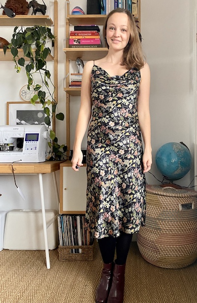 Diary of a Chain Stitcher: Sewing Patterns by Masin Sicily Slip Dress in Liberty Print Floral Silk Satin