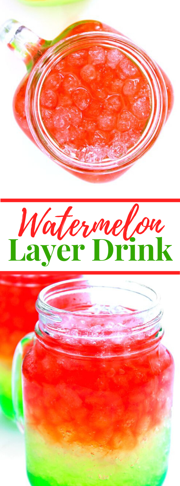 WATERMELON LAYER DRINK #drinks #summertime