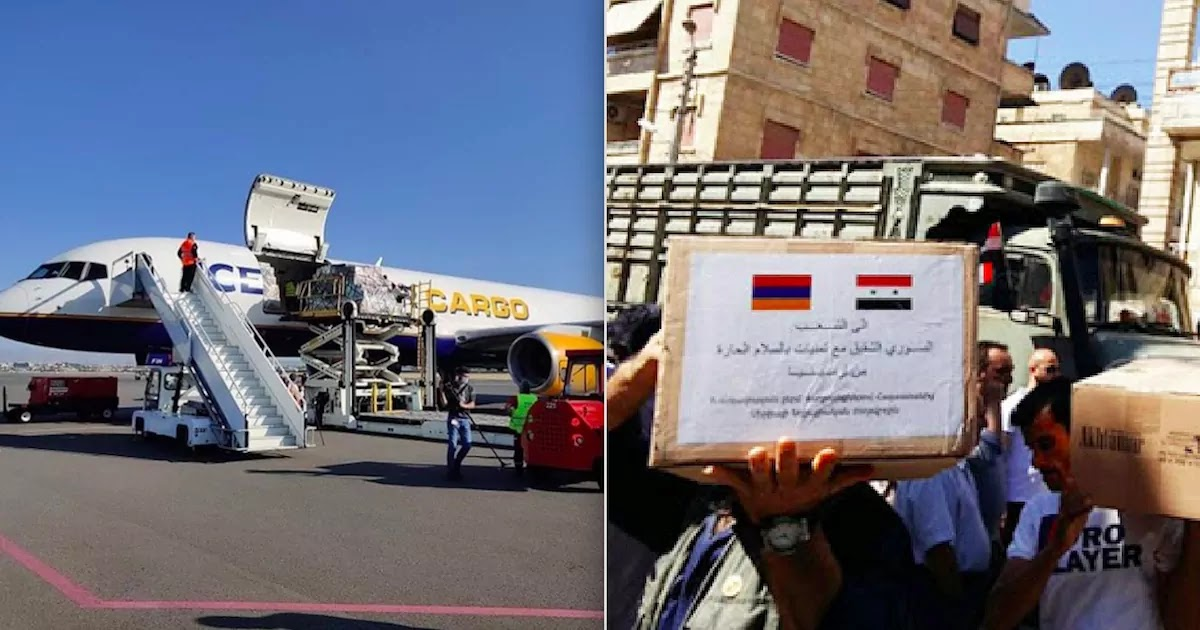 Armenians Rejoice After 700 Tonnes Of Humanitarian Aid From Nations Around The World Arrive In Yerevan