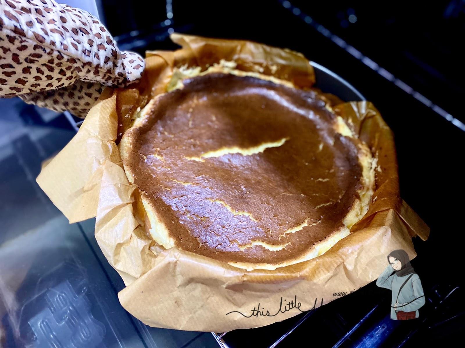resepi basque burnt cheesecake  sedap  sis lin Resepi Kek Span Setengah Kilo Enak dan Mudah