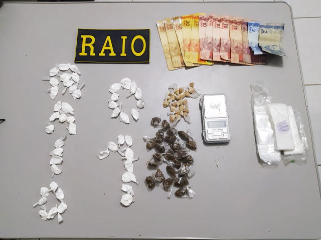 RAIO APREENDE EM SANTA QUITÉRIA MENOR ENVOLVIDO NO TRÁFICO DE DROGAS E APRRENDEU DINHEIRO