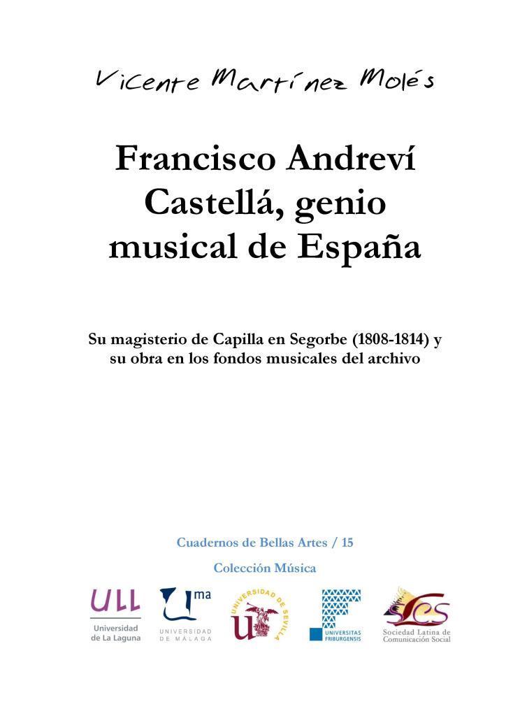 Francisco Andreví Castellá, genio musical de España – Vicente Martínez Molés