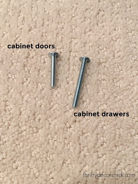 screws for cabinet hardware