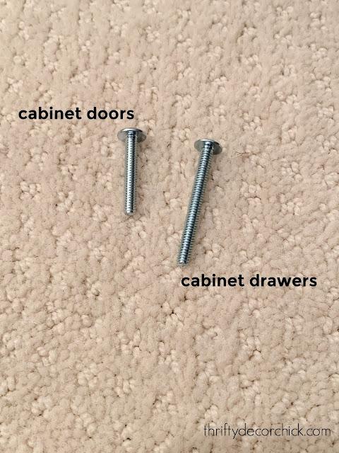 screws for cabinet hardware