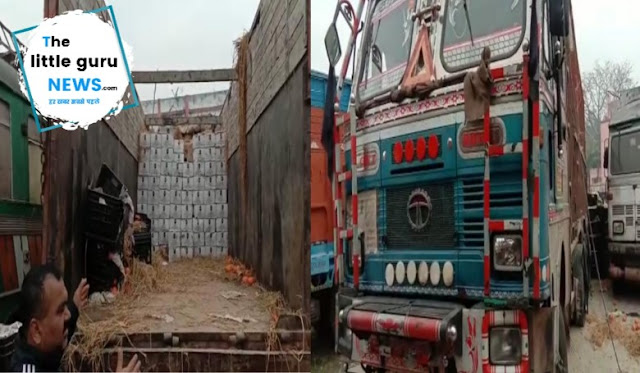 भारी मात्रा में शराब लदा ट्रक जप्त