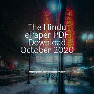 The Hindu ePaper PDF Download October 2020
