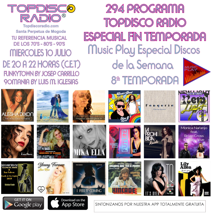 294 Programa Topdisco RAdio Especial Fin de Temporada