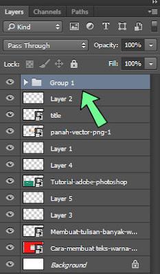 Membuat grup di photoshop untuk meringkas layer-layer yang banyak