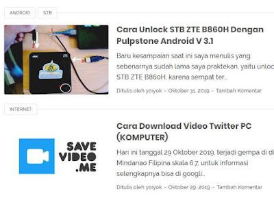 Thumbnail di Halaman Utama Blog