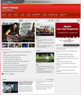 Johny Storage Red Blogger Template
