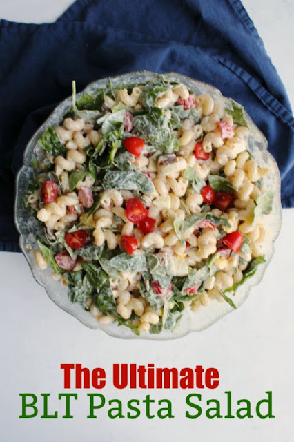 Perfect for picnics, potlucks and BBQs, this pasta salad has the bacon, lettuce and tomatoes you'd expect plus more goodies to take it to the next level!