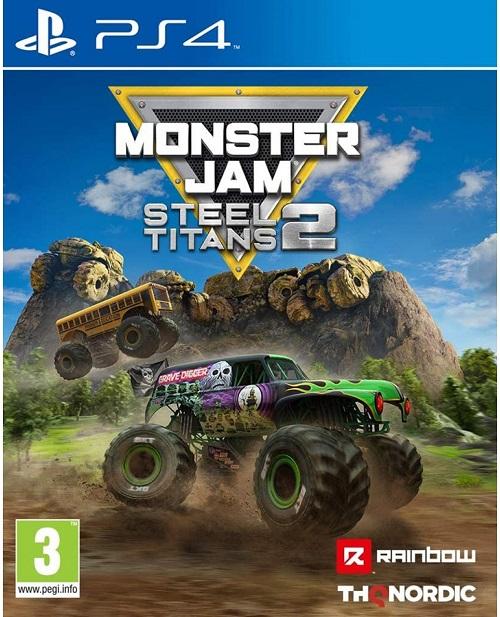 Monster Jam Steel Titans 2 PS4 Game Cover