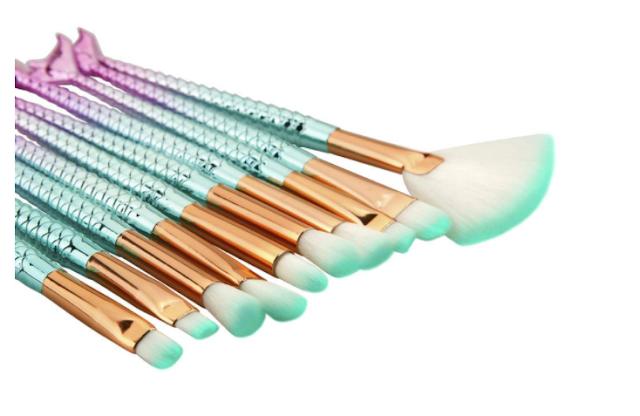 ClubComfort � Beauty Professional Eye Makeup Brushes Mermaid Eye Brush Set for Cosmetics - 10 Pcs