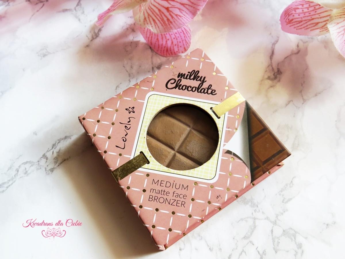 bronzer do twarzy, lovely, konturowanie, czekoladka od lovely