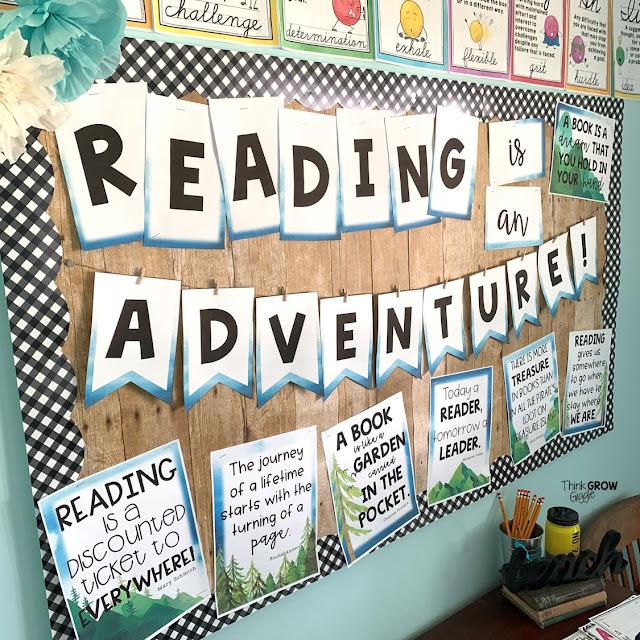 classroom library decor