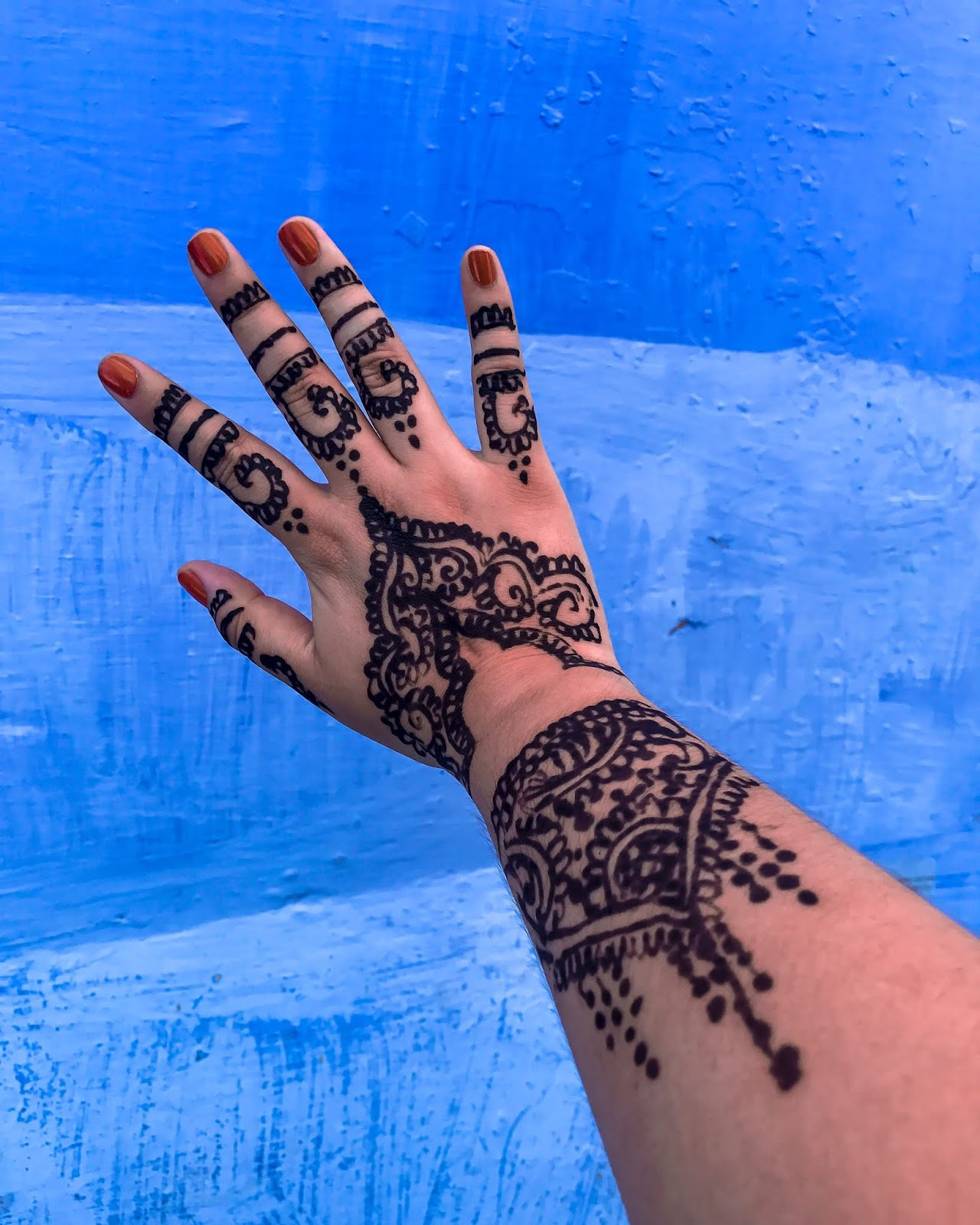 Chefchaouen Morocco Henna