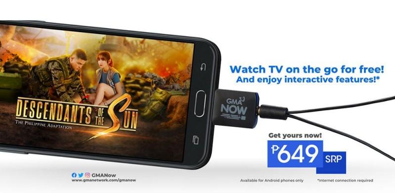 GMA Now digital TV dongle for smartphones now available at PhP 649
