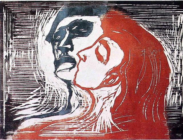 Эдвард Мунк - Мужчина и женщина. 1905