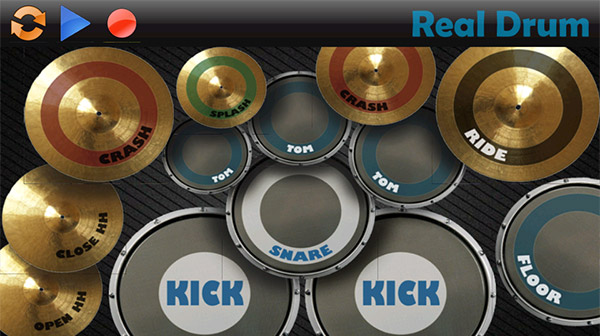 Real Drum on Android Screen
