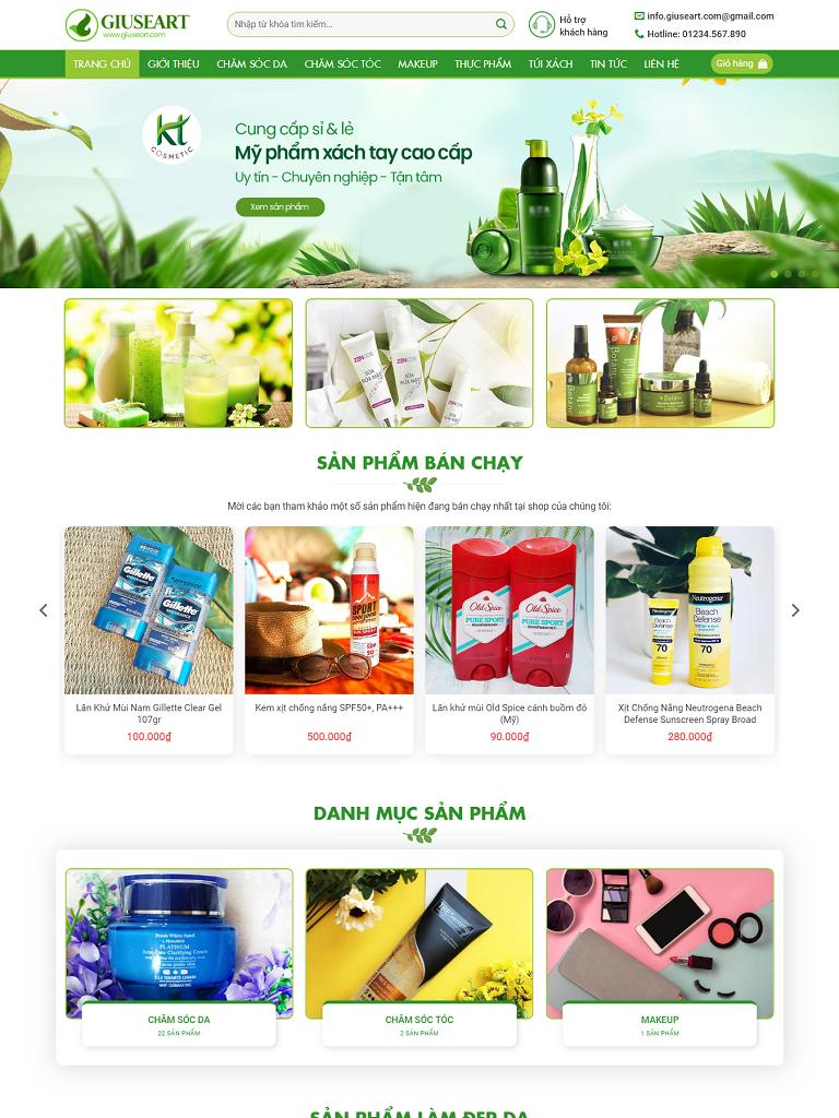 NBW162 – Mẫu website bán mỹ phẩm cao cấp đẹp nhất 2019