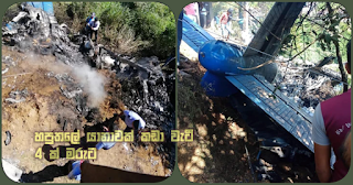 Aircraft crashes in Haputale -- 4 dead