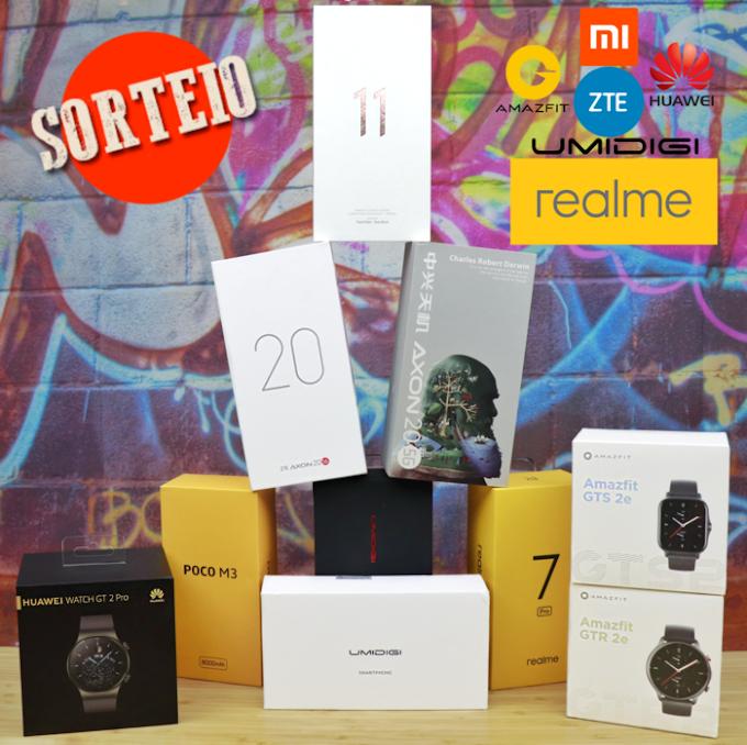Mega Sorteio - 7 Smartphones e 3 Smartwatches