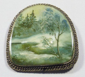 Russian hand painted miniature from
