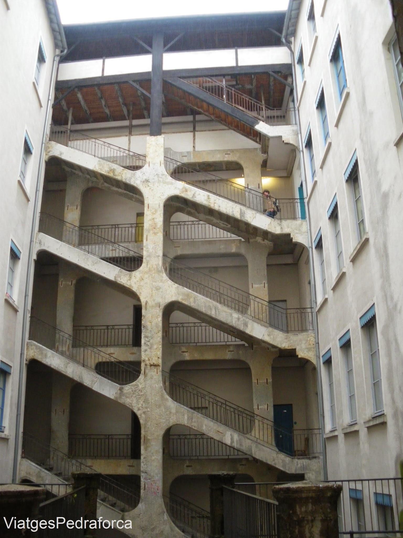 Traboule de la Place Colbert 9, Croix-Rousse, Lyon, Lió, Rhône, Rhône-Alpes, França, France