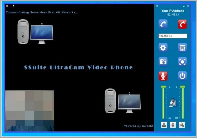 SSuite UltraCamVP : Επικοινωνήστε με βίντεο και ήχο με  άλλους υπολογιστές στο δίκτυό σας