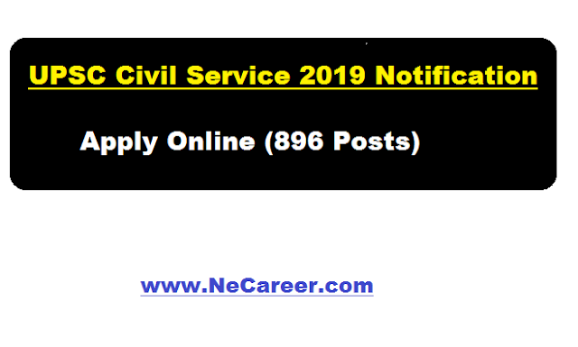 UPSC 2019 Notification