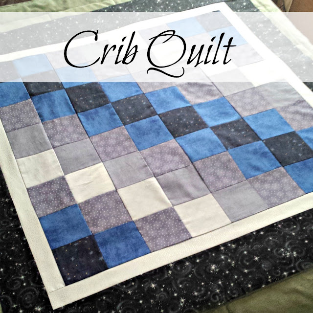 The making of the Starry Night crib quilt