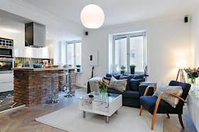 Mueble divisorio de cocina y living