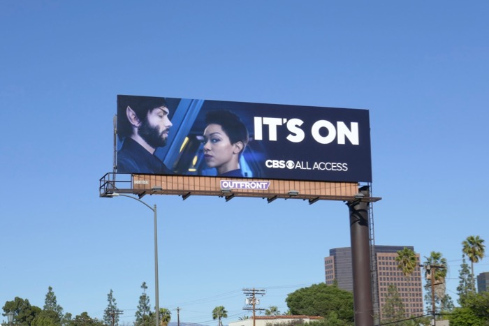 Star Trek Discovery CBS Its On billboard