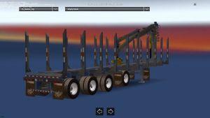 MANAC 4 Axis log transporter trailer