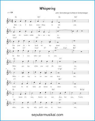 Whispering 1 chords jazz standar