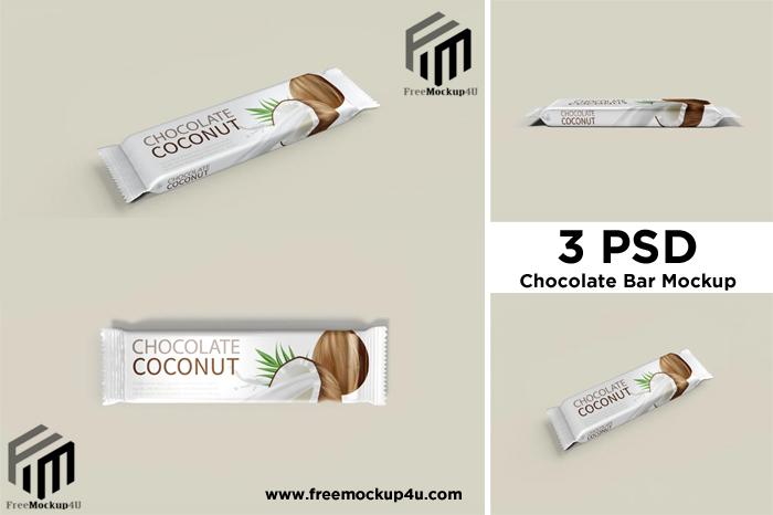 Chocolate Bar 3 PSD Set Mockups Design Free Download