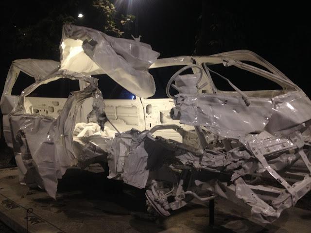 Vehicle Sculpture at Dhaka University