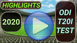 cricket highlights videos online 2020